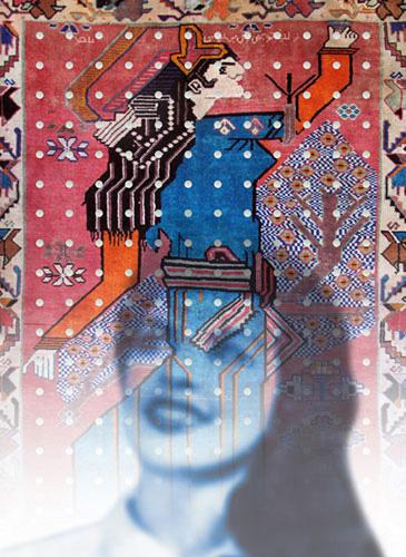 Samira Alikhanzadeh Iranian painter at sholeh abghari art gallery marbella