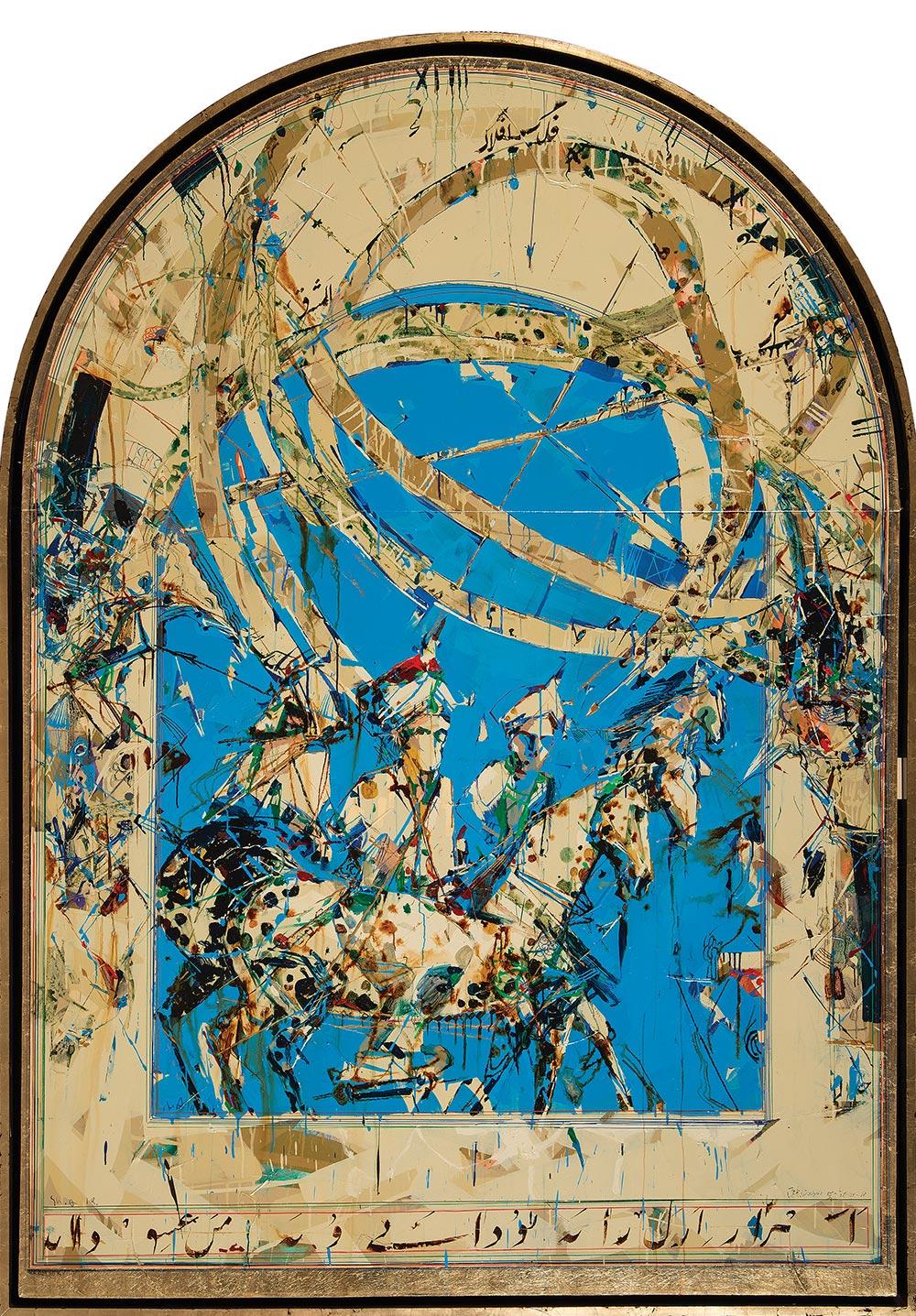 Shahriar-Ahmadi Scape/Avicenna- Al_Biruni-Al_Masihi (Memories of the 5th Hijiri) sholeh abghari art gallery marbella
