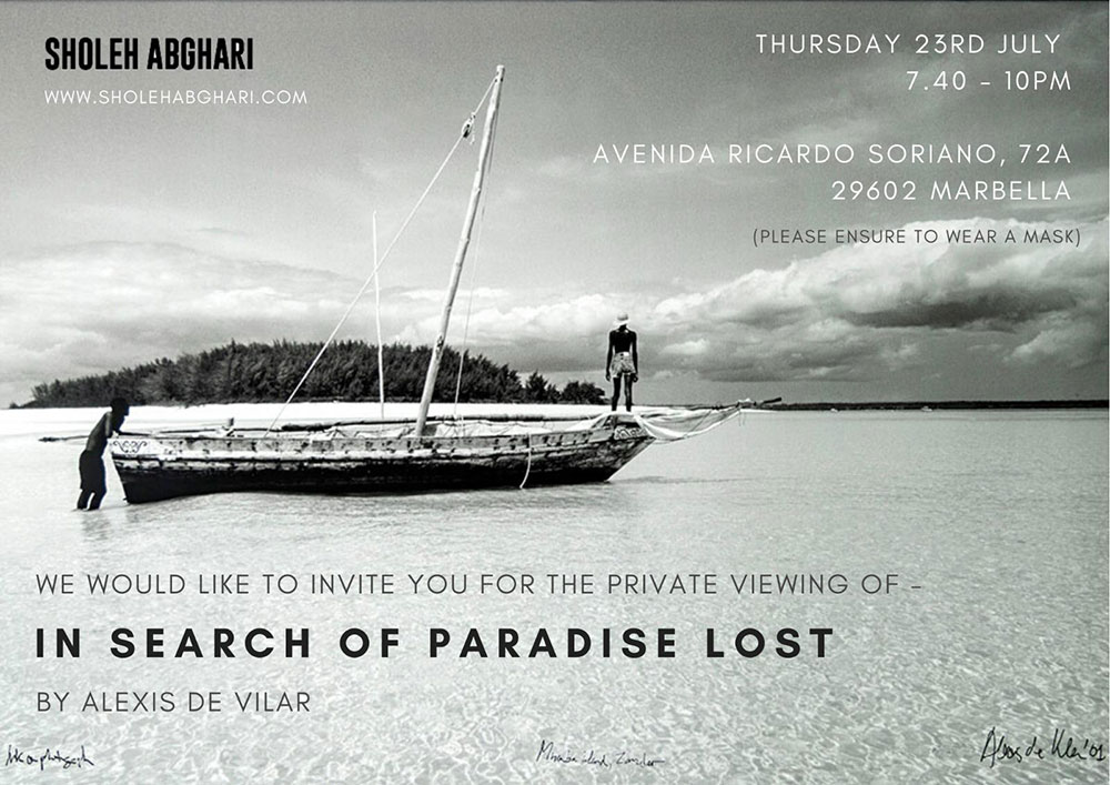 sholeh abghari art gallery marbella - in search of paradise