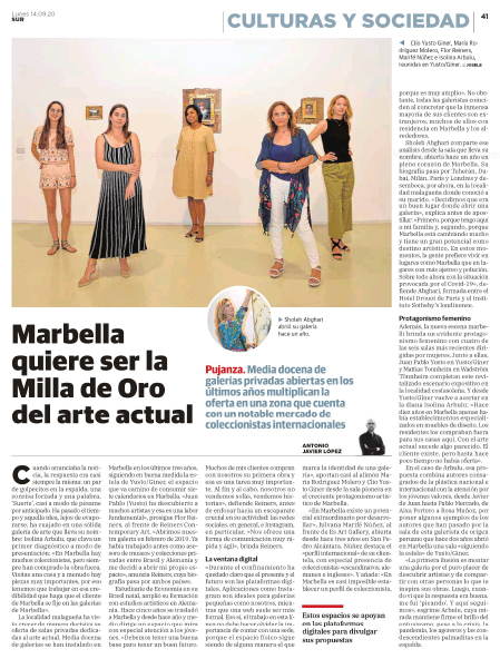sholeh-abghari-en-Diario-Sur-art-gallery-marbella