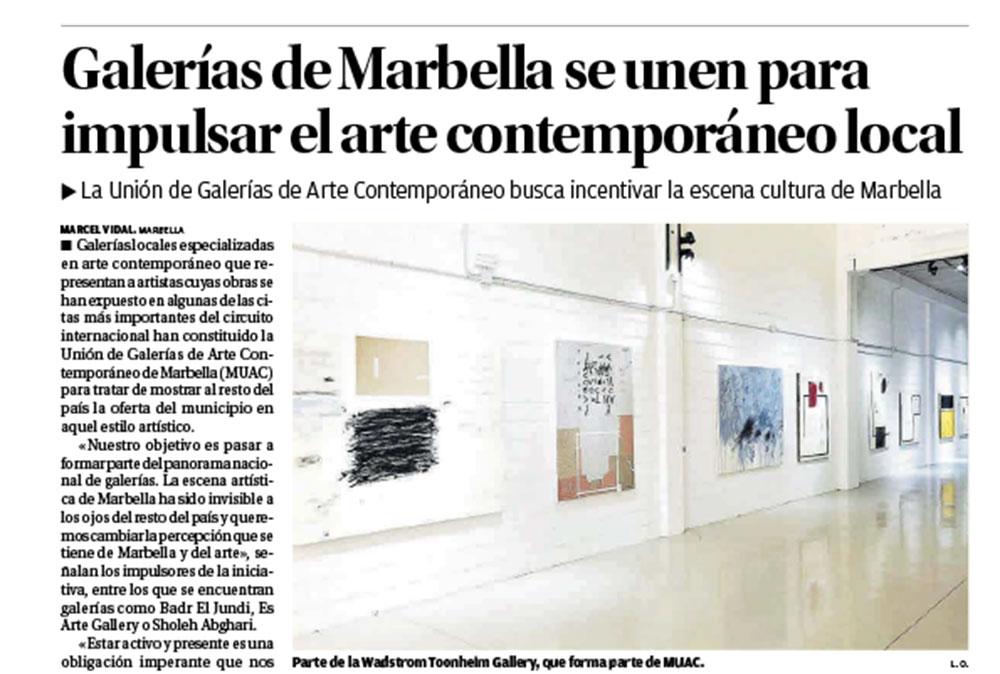 art gallery marbella, sholeh abghari art gallery exhibition art