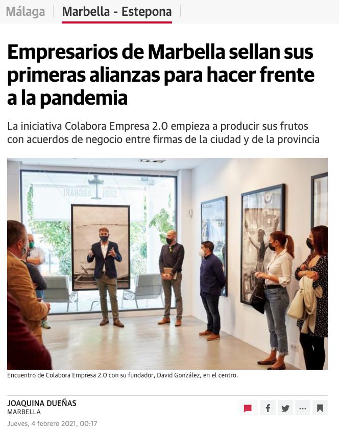 Empresarios de Marbella sellan sus primeras alianzas para hacer frente a la pandemia