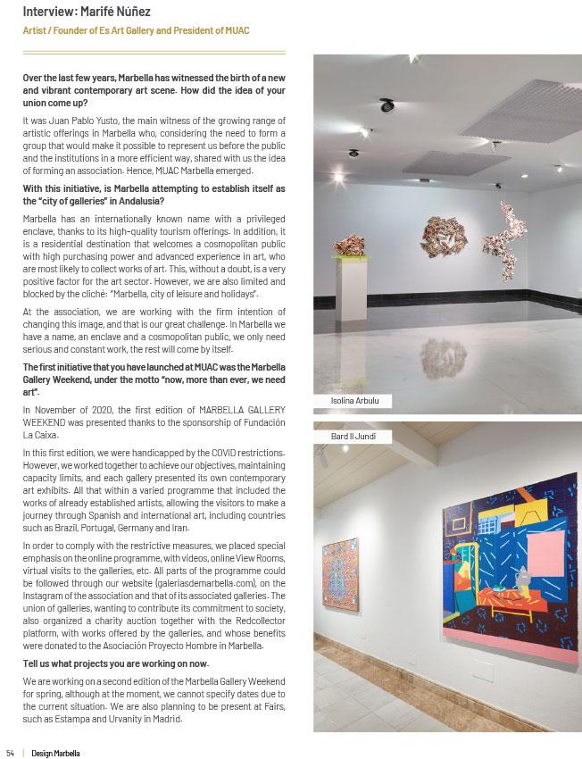 Sholeh abghari art gallery in marbella Design-Marbella