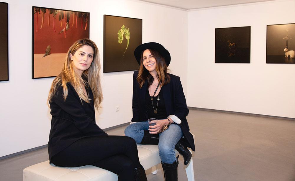 sholeh abghari contemporary art gallery in marbella. marie cecile and zhuang hong yi