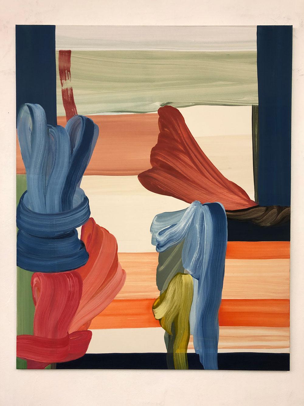 moje assefjah Aile Rouge 2020 eggtempera on canvas 150x-120 cm sholeh abghari art gallery marbella