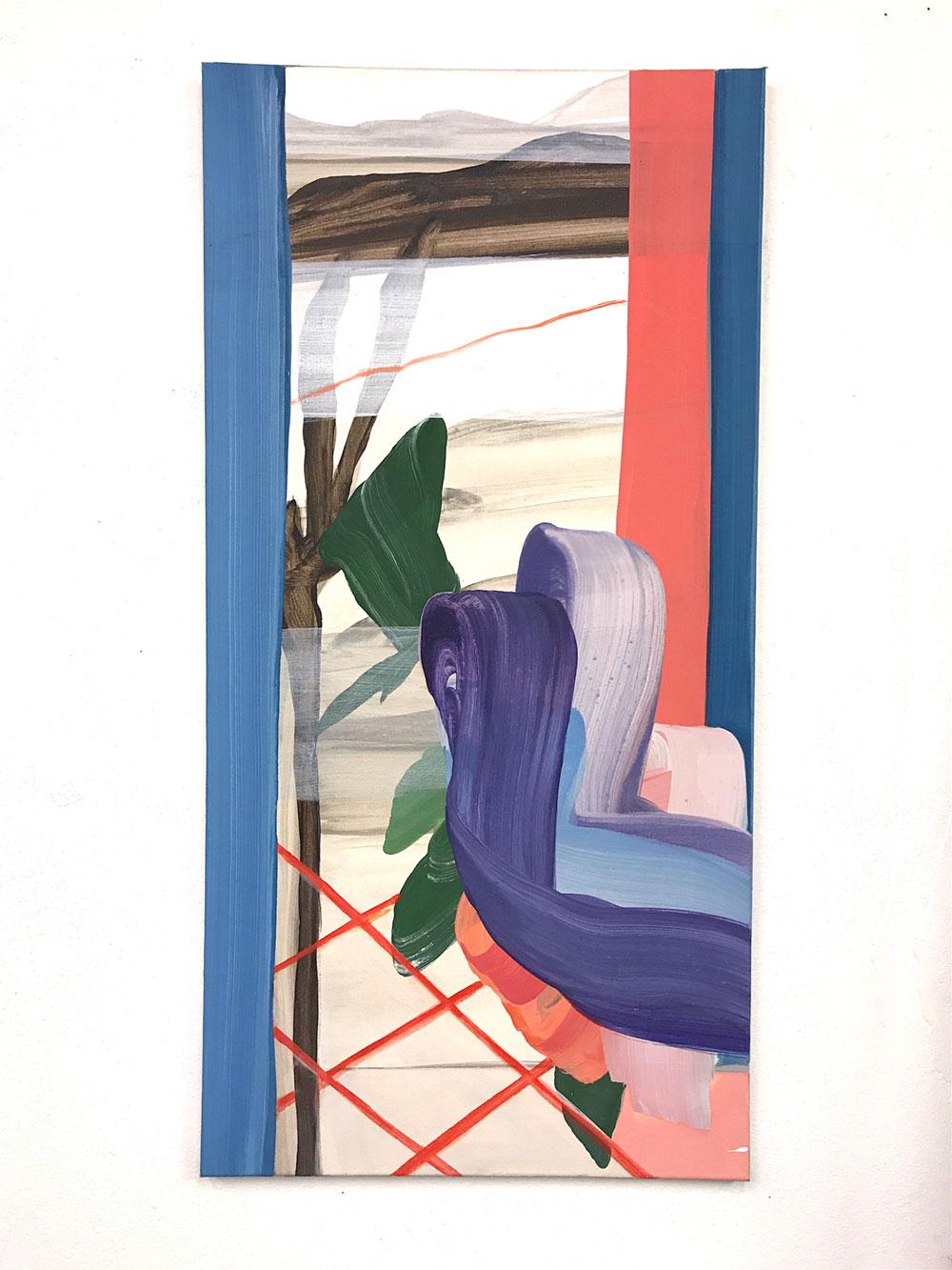 moje assefjah Branch 2017 eggtempera on canvas 100x-50 cm sholeh abghari art gallery marbella