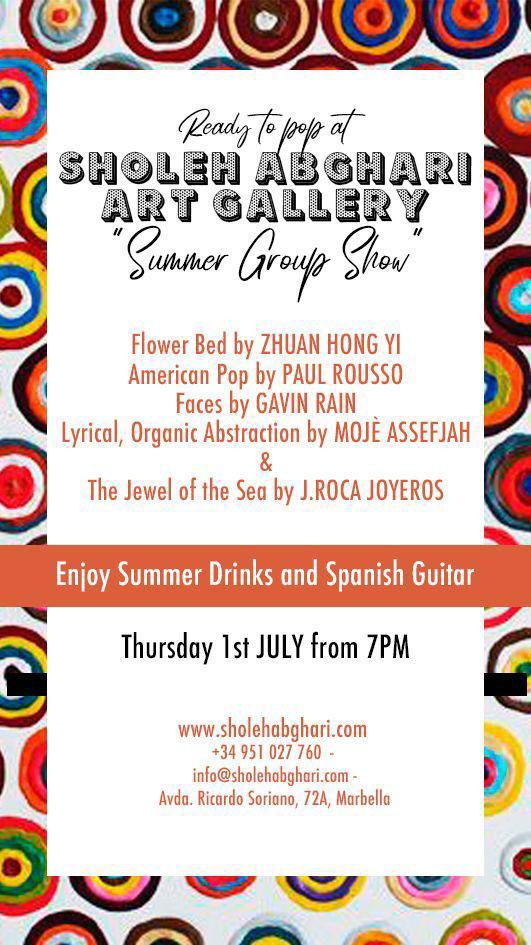sholeh abghari contemporary marbella art gallery summer group show 2021